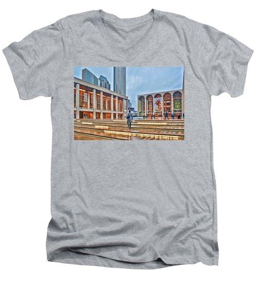 Steps To Fame Lincoln Center Men's V-Neck T-Shirt