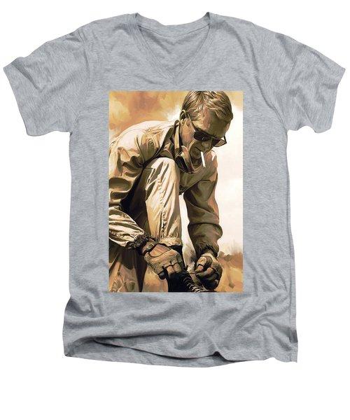 Steve Mcqueen Artwork Men's V-Neck T-Shirt