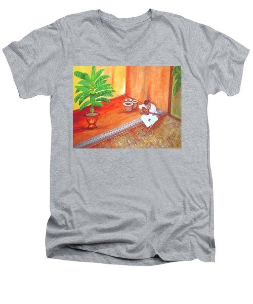 Steve While On Safari In South Africa Men's V-Neck T-Shirt