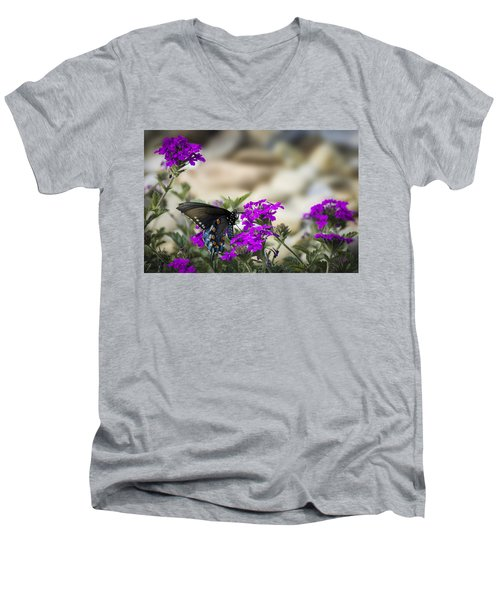 Still Beautiful Swallowtail Men's V-Neck T-Shirt
