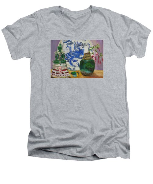 Still Life With Buddha Men's V-Neck T-Shirt