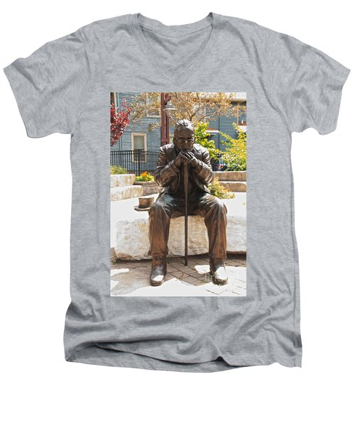 Still Waiting Men's V-Neck T-Shirt by William Norton