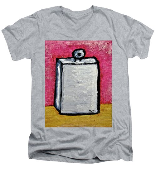 Men's V-Neck T-Shirt featuring the painting Stills 10-004 by Mario Perron