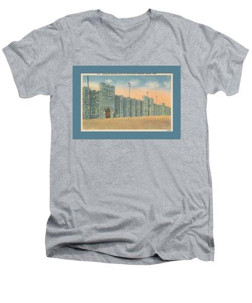 Stone Castle Bristol Tn Built By Wpa Men's V-Neck T-Shirt