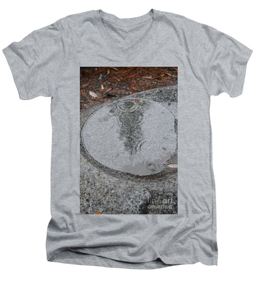 Men's V-Neck T-Shirt featuring the photograph Stone Pool Angel by Brian Boyle