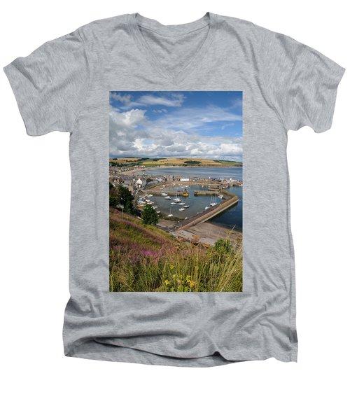 Stonhaven Harbour  Scotland Men's V-Neck T-Shirt by Jeremy Voisey