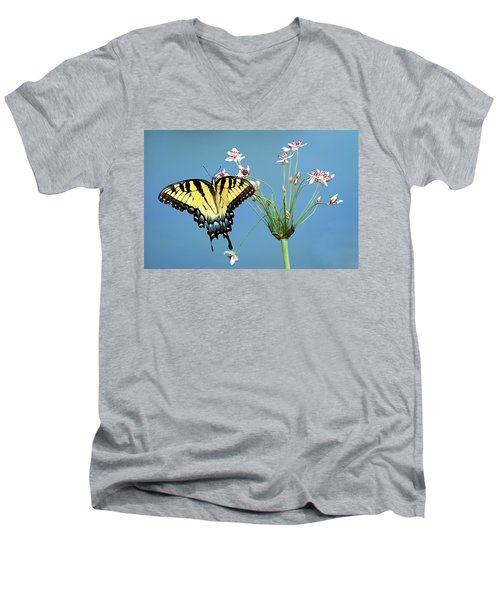 Stop And Smell The Flowers Men's V-Neck T-Shirt by Elizabeth Winter
