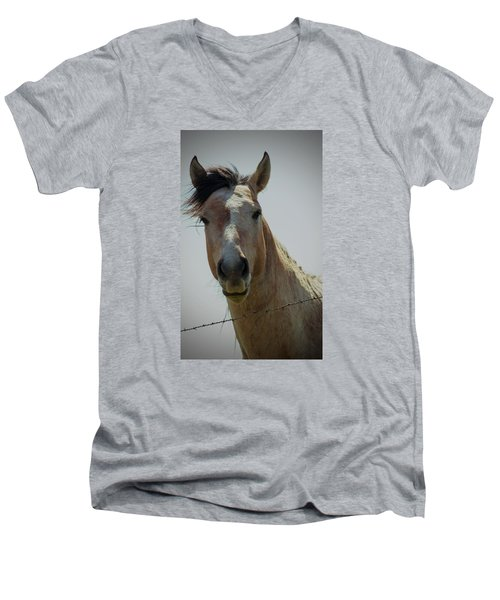 Men's V-Neck T-Shirt featuring the photograph Stop Bothering Me by Rima Biswas