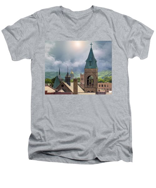 Storm Clouds In Charleston Wv Men's V-Neck T-Shirt by Mary Almond