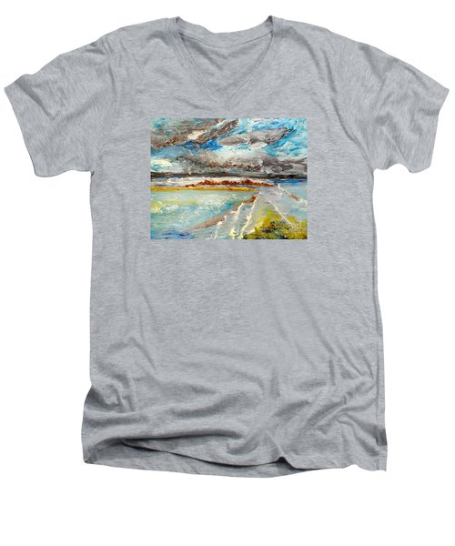 Storm Coming At Austinmer Beach Men's V-Neck T-Shirt