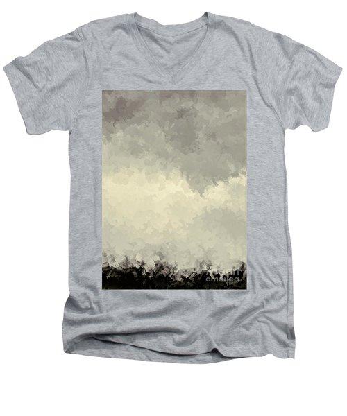 Storm Over A Cornfield Men's V-Neck T-Shirt