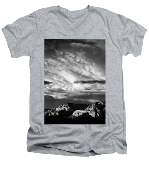 Storm Over Sedona Men's V-Neck T-Shirt