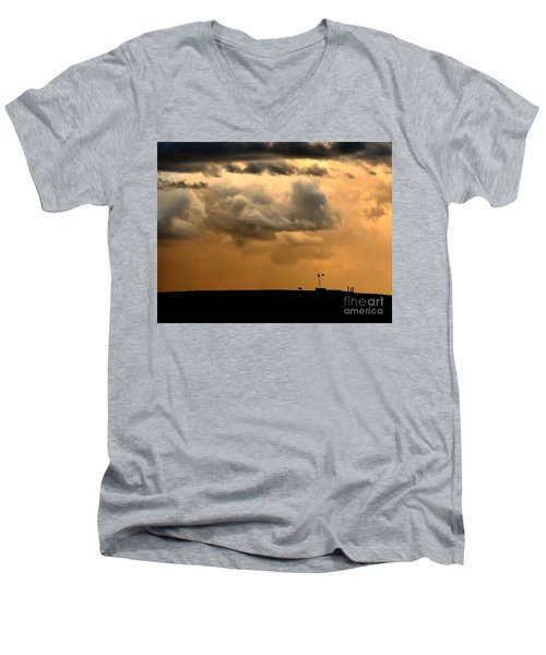 Storm's A Brewing Men's V-Neck T-Shirt by Steven Reed