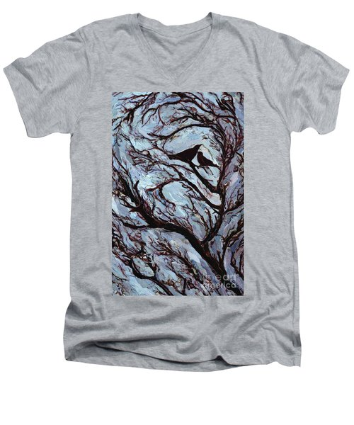 Stormy Day Greenwich Park Men's V-Neck T-Shirt by Ellen Golla