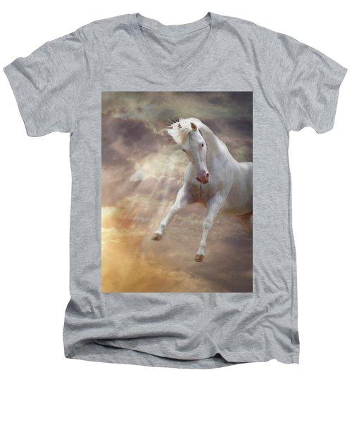 Stormy Men's V-Neck T-Shirt by Melinda Hughes-Berland