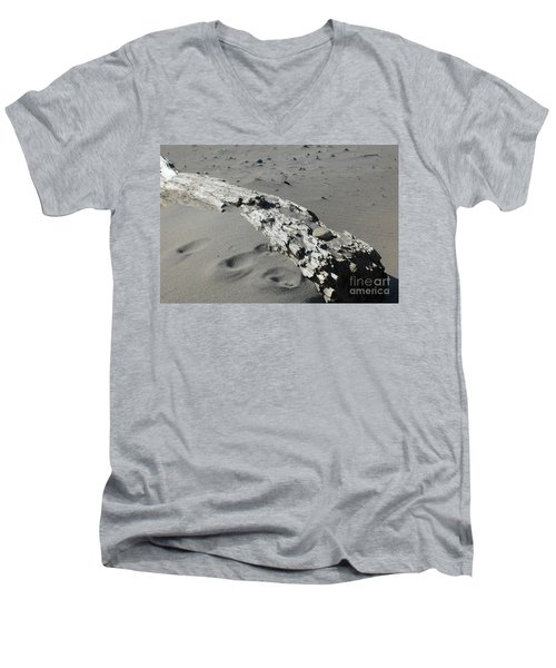 Men's V-Neck T-Shirt featuring the photograph Stranded by Christiane Hellner-OBrien