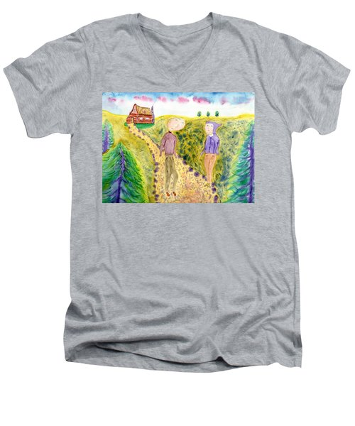 Cabin Trail Men's V-Neck T-Shirt