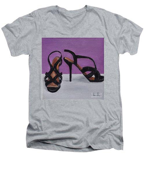Strappy Black Heels For Maddy Men's V-Neck T-Shirt