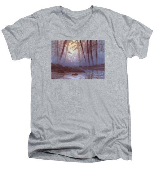 Stream In Mist Men's V-Neck T-Shirt