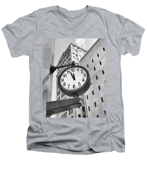 Street Clock Men's V-Neck T-Shirt