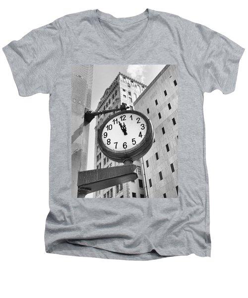 Street Clock Men's V-Neck T-Shirt