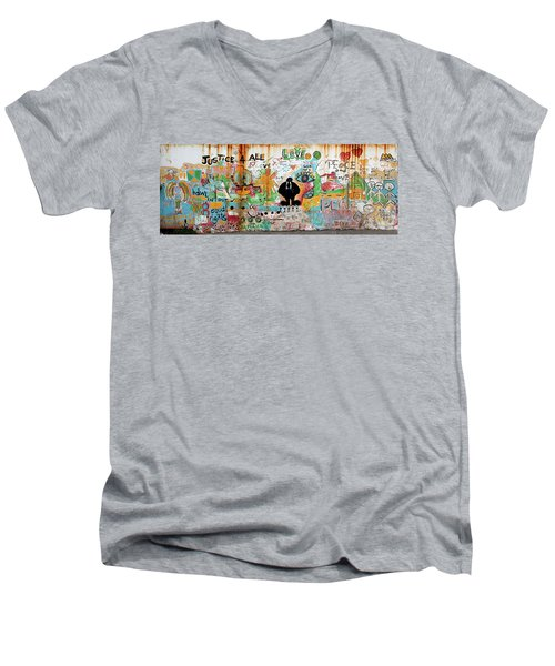 Street Mural At Liguanea Men's V-Neck T-Shirt