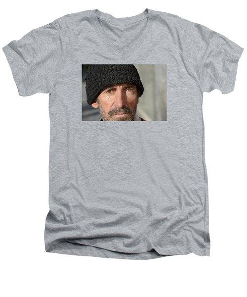 Street People - A Touch Of Humanity 24 Men's V-Neck T-Shirt by Teo SITCHET-KANDA