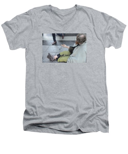 Street People - A Touch Of Humanity 25 Men's V-Neck T-Shirt
