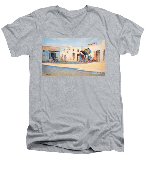 Street Scene From Tunisia. Men's V-Neck T-Shirt