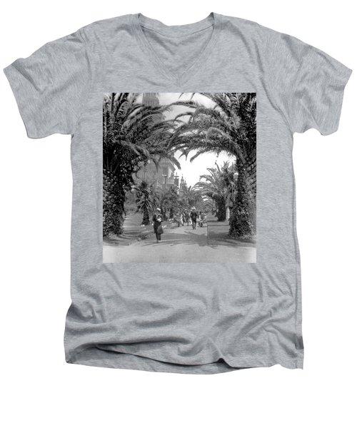 Avenue Of The Palms, San Francisco Men's V-Neck T-Shirt