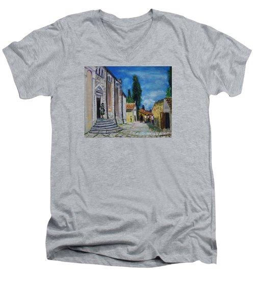 Street View In Rovinj Men's V-Neck T-Shirt