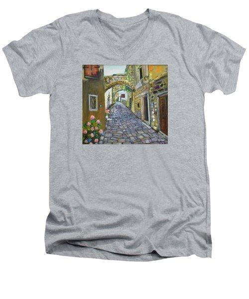 Street View In Pula Men's V-Neck T-Shirt