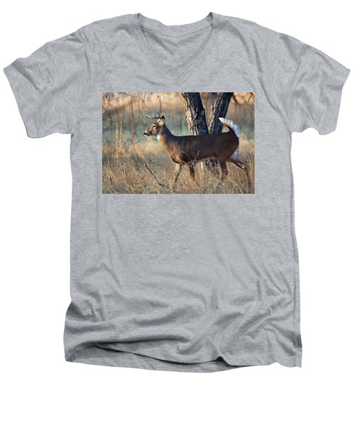 Men's V-Neck T-Shirt featuring the photograph Strutting Buck by Jim Garrison