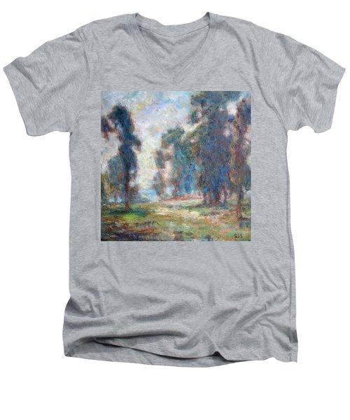 Study Of An Impressionist Master Men's V-Neck T-Shirt