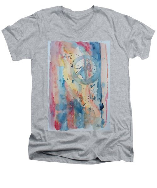 Subtle Peace Men's V-Neck T-Shirt