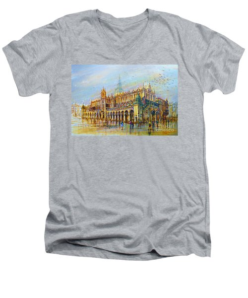 Sukiennice In Cracow Men's V-Neck T-Shirt