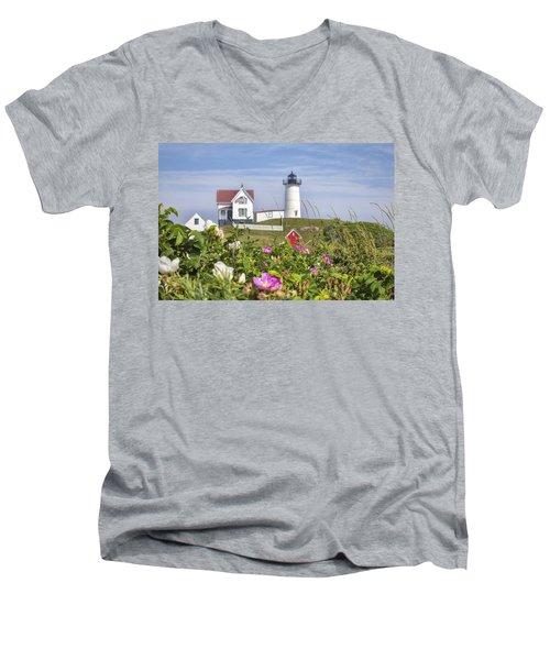 Summer At Nubble Light Men's V-Neck T-Shirt