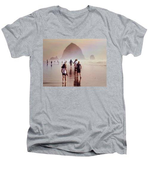 Summer At The Seashore  Men's V-Neck T-Shirt