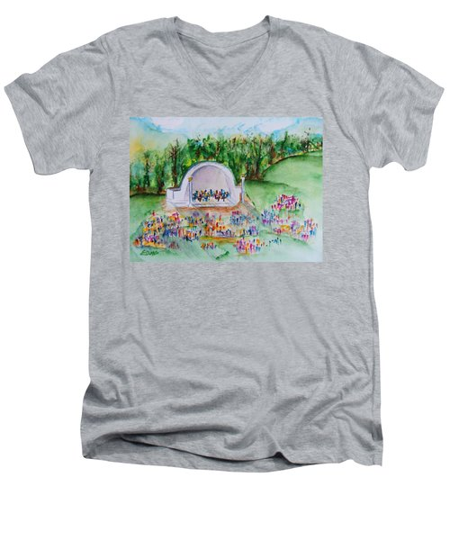 Summer Concert In The Park Men's V-Neck T-Shirt