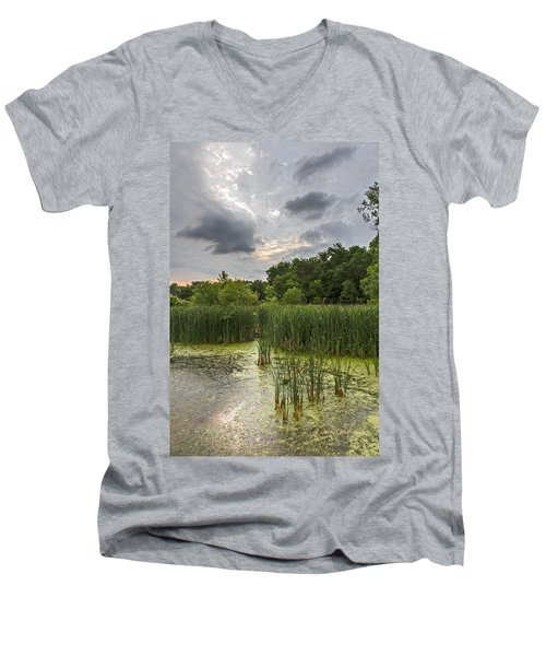 Summer Evening Clouds Men's V-Neck T-Shirt