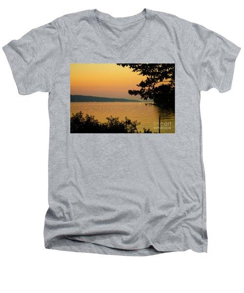 Summer Evening On Cayuga Lake Men's V-Neck T-Shirt