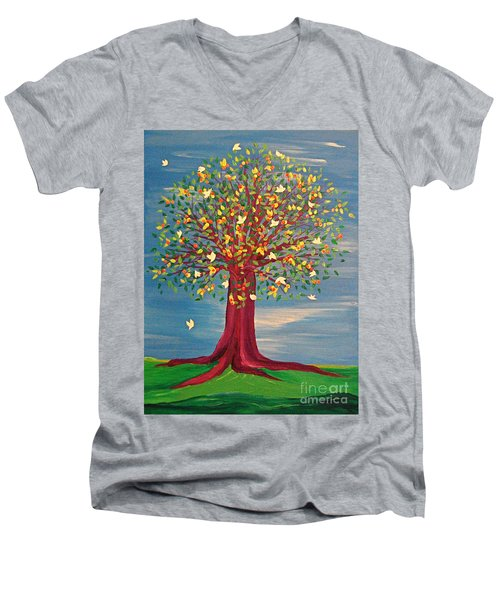 Summer Fantasy Tree Men's V-Neck T-Shirt