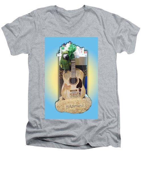 Men's V-Neck T-Shirt featuring the photograph Summer Guitar by Barbara McDevitt