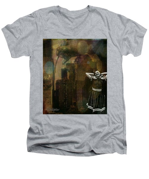 Summer In The City Men's V-Neck T-Shirt