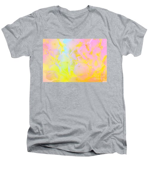Men's V-Neck T-Shirt featuring the photograph Summer Joy Abstract by Judy Palkimas