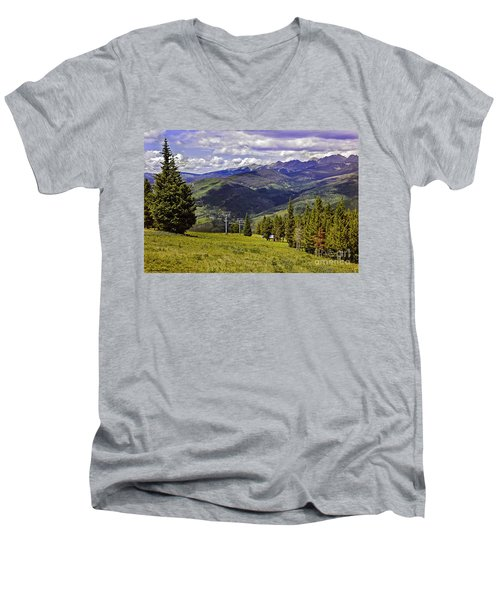 Summer Lifts - Vail Men's V-Neck T-Shirt by Madeline Ellis