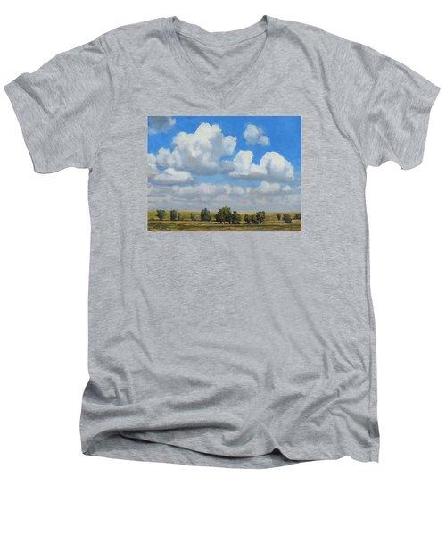 Summer Pasture Men's V-Neck T-Shirt by Bruce Morrison