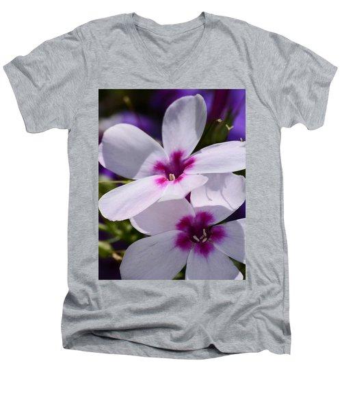 Summer Phlox Men's V-Neck T-Shirt