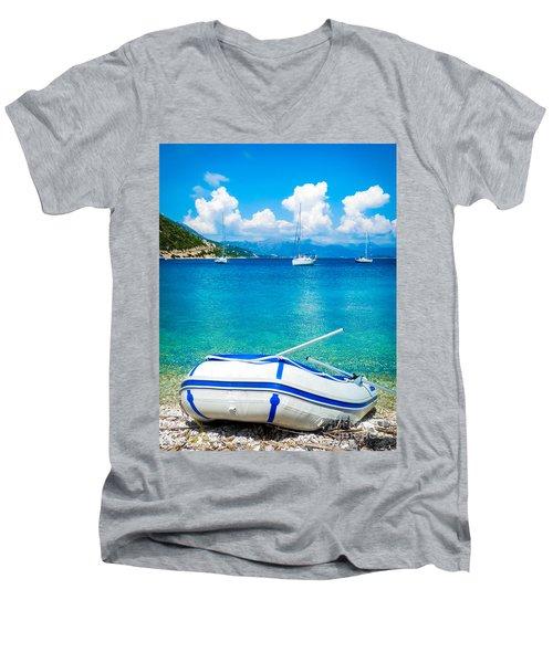Summer Sailing In The Med Men's V-Neck T-Shirt