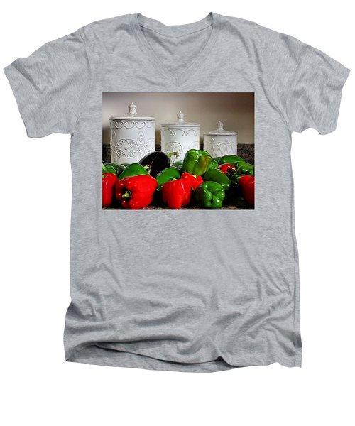 Summer Still Life Men's V-Neck T-Shirt by Kristin Elmquist